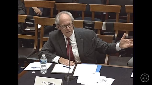 CAPA Executive Director and Consumer Federation of America public affairs Director Jack Gillis, seen here in a screenshot from subcommittee video, speaks Feb. 2, 2016, during the Courts, Intellectual Property, and the Internet Subcommittee of the House Judiciary Committee hearing on the PARTS Act. (Screenshot from House subcommittee video on YouTube)