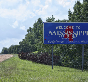 A Mississippi welcome sign is shown. (Jens Lambert Photography/iStock/Thinkstock)