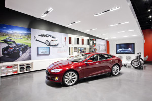 A Tesla store is shown in this undated photograph provided by Tesla in 2013. (Provided by Tesla)