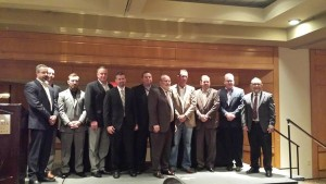 The 2015-16 Society of Collision Repair Specialists board is shown. (John Huetter/Repairer Driven News)