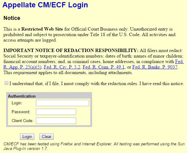 Java issues caused a late filing to the Eleventh Circuit Court of Appeals, according to a collision repairer attorney at Eaves Law Firm. (Screenshot from Eleventh Circuit website)