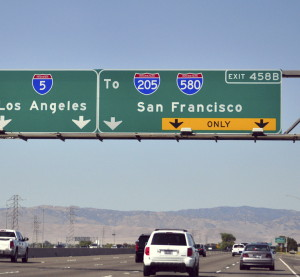 A highway sign in California. (Vikas Aggarwal/iStock/Thinkstock)