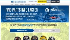 Free collision repair information can be found on the FCA Mopar Repair Connection website. (Screenshot from www.moparrepairconnection.com)