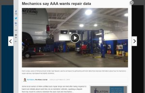 The Delaware News-Journal reported Monday that AAA has asked state garages for details about their labor rates and operations in a way that ought to sound familiar to the auto body industry. (Screenshot from www.delawareonline.com)