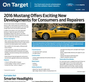 Ford has released Volume 1 of the 2016 year of On Target magazines. (Ford On Target magazine)