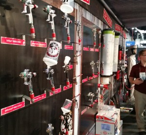 The 2015 SATA booth at SEMA is shown. (John Huetter/Repairer Driven News)