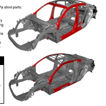 Honda last month released an auto body overview for the redesigned two-door 2016 Civic, and collision repairers should note how the body-in-white configuration diverges from the four-door edition. (Provided by Honda)