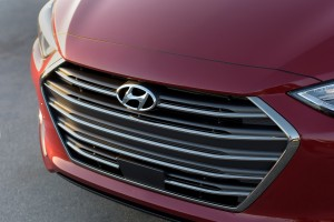 The front of a 2017 Hyundai Elantra is shown. (Provided by Hyundai)