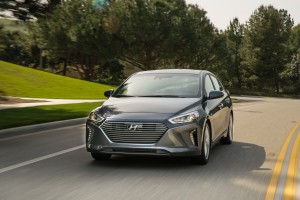 The Prius-fighting 2017 Hyundai Ioniq, which starts at a hybrid version (pictured) and works its way up to fully electric, debuted last month at the New York International Auto Show. (Provided by Hyundai)
