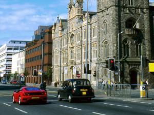 Cars travel in Belfast, Northern Ireland. (Philartphace/iStock/Thinkstock)