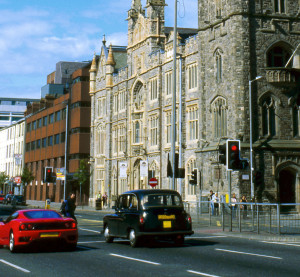 Cars travel in Belfast, Northern Ireland. (Philartphace/iStock/Thinkstock)