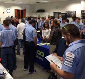 A Collision Repair Education Foundation career fair is shown. (Provided by CREF)