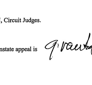 Eleventh Circuit Appellate Judges Charles Wilson and Gerald Tjoflat didn't discuss either shops or insurers' arguments Tuesday, merely declaring collision repairers' motion to reinstate their appeal granted. (Provided by Eleventh Circuit)