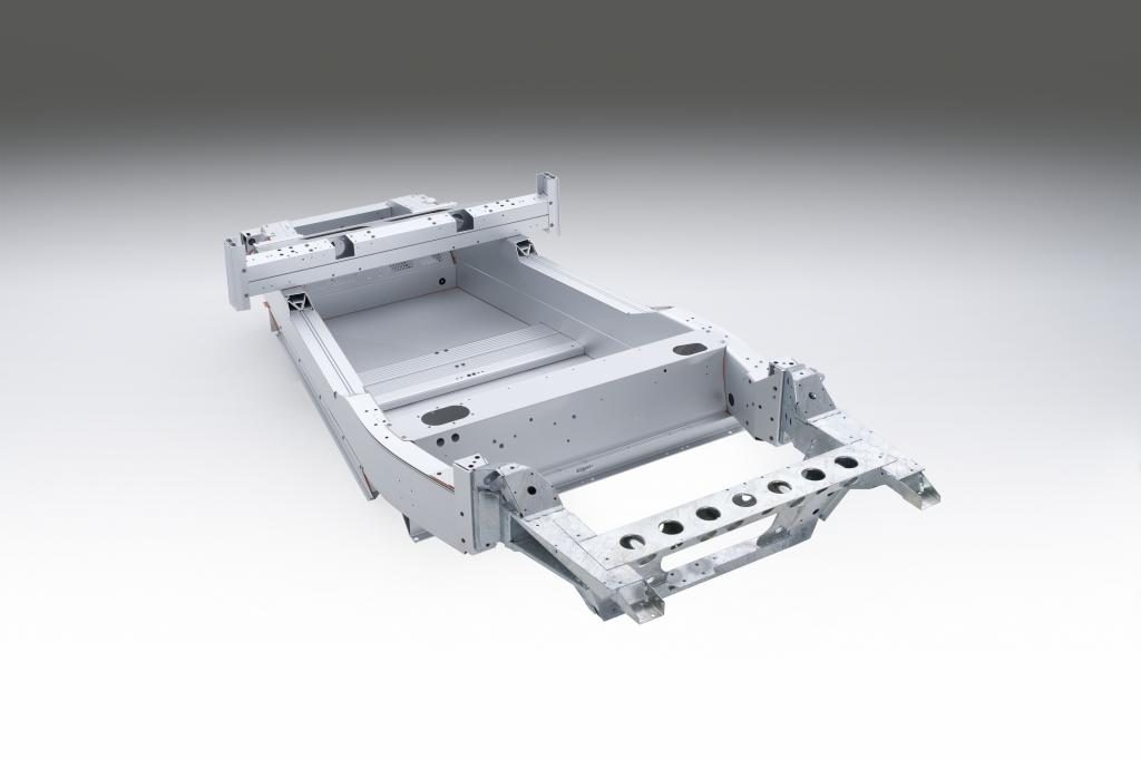 The Lotus Elise' 150-pound aluminum chassis. (Provided by Lotus)