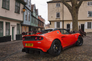 """A Lotus Elise Cup 250 with a """"carbon pack"""" of features like the spoiler is shown. (Provided by Lotus)"""
