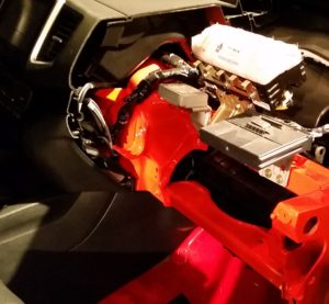 The magnesium instrument panel of the 2016 Honda Pilot (orange) can be seen. (John Huetter/Great Designs in Steel)