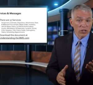 A new CIECA video, seen here in a screenshot, discusses BMS for car rental companies. (Screenshot from video on www.cieca.com)