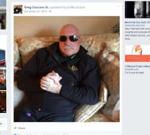 Greg Coccaro Sr. is shown on his Facebook timeline. (Screenshot from Greg Coccaro Sr.'s Facebook page at www.facebook.com)