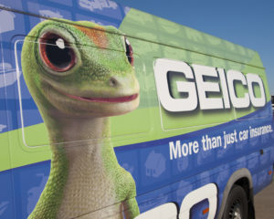 A GEICO van is seen Oct. 16, 2011, at the Houston Air Show at Ellington International Airport. (Lanie/iStock)