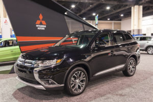 A Mitsubishi Outlander is shown at the 2015 Charlotte Auto Show on Nov. 11, 2015. (edaldridge/iStock file)