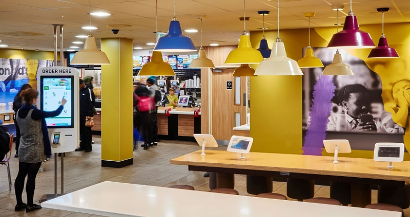 An example of the tablets coming to United Kingdom McDonald's under a new initiative. (Provided by SOTI via PRNewsFoto United Kingdom)