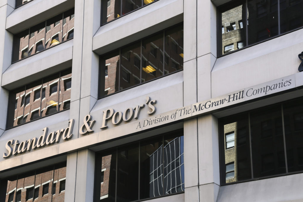 Standard and Poor's headquarters is seen in May 2014 in New York City. (mixmotive/iStock file)