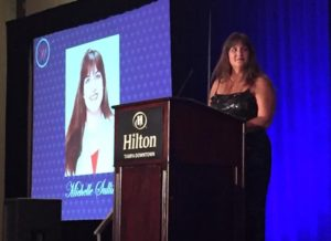 Michelle Sullivan of FinishMaster, seen here at the 2016 WIN Conference, earned the 2016 Most Influential Women in collision repair title. (Provided by WIN)