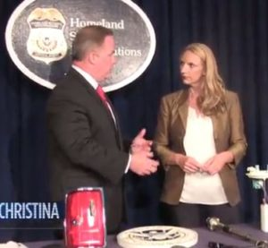 Miami ICE special agent in charge Robert C. Hutchinson talks to Christina Vazquez of WPLG about counterfeit auto parts. (Screenshot from WPLG video)