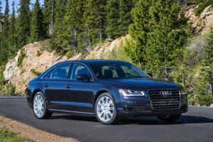 A 2015 Audi A8 L sedan is shown here. Aluminum fenders could become common quickly in U.S. vehicles, an IHS Automotive expert predicted June 28, 2016. (Provided by Audi)
