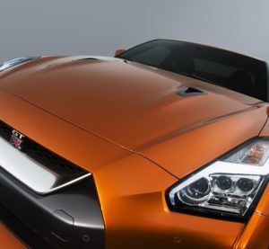 The 2017 Nissan GT-R's refreshed front is shown. (Provided by Nissan)
