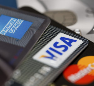 American Express, Visa and MasterCard cards are seen in Izmir, Turkey, on June 25, 2012. (Mutlu Kurtbas/iStock file)