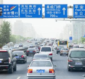Traffic in Beijing. (powerofforever/iStock)