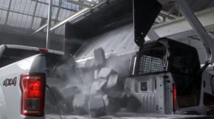General Motors stepped up its campaign to tout the steel Chevrolet Silverado's steel as superior to the aluminum Ford F-150 with new videos announced Wednesday. (Screenshot from Chevrolet YouTube channel footage)