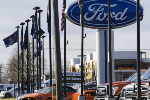The Huntington Ford dealership on Rochester Road in Rochester Hills, Mich., is shown March 21, 2016. (RiverNorthPhotography/iStock)
