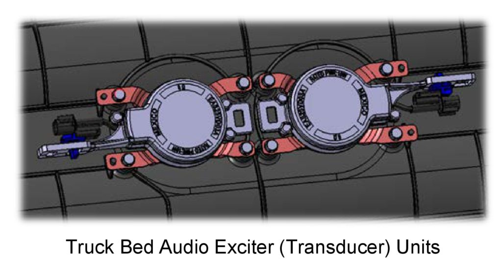 A diagram of exciters on the 2017 Honda Ridgeline is shown in this June 2016 Honda Body Repair News. (Provided by Honda)