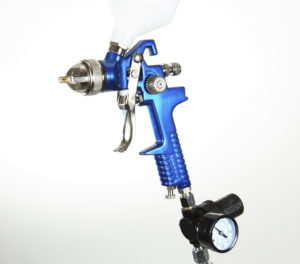 A high-volume, low-pressure spray gun is pictured here. (Paul Morton/iStock)