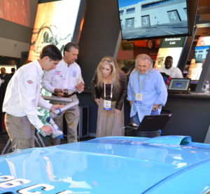 Capabilities of the SEMA Garage are demonstrated at a past SEMA show. (Provided by SEMA)