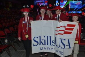 The Maryland delegation is seen during the 2016 SkillsUSA Parade of Champions. (Provided by SkillsUSA)