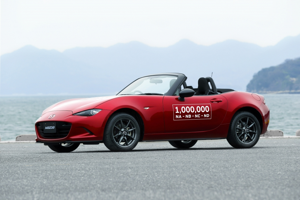 Mazda produced its 1 millionth MX-5 ever, it announced in April 2016. (Provided by Mazda)