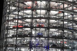 The Volkswagen Autostadt parking structure is shown in 2006. (Pgiam/iStock file)