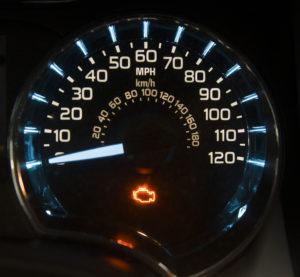 A check engine light is illuminated. (tfoxfoto/iStock)