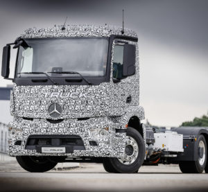 Daimler announced Wednesday a fully electric Mercedes Urban eTruck which could hit markets as by early next decade. (Provided by Daimler)