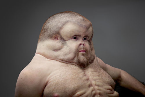 """""""Graham"""" was created by Melbourne, Australia, artist Patricia Piccinini, who collaborated with Royal Melbourne Hospital trauma surgeon Christian Kenfieln and Monash University Accident Research Centre crash investigator David Logan on the project. He is meant to show how a human would evolve to survive a car crash. (Provided by Transport Accident Commission)"""