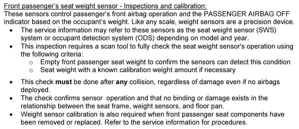 honda passenger scan tight