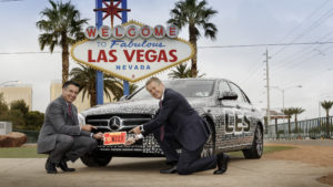 Mercedes in January 2016 announced the E-Class was the first production model to be given an autonomous test license in Nevada. (Provided by Daimler)