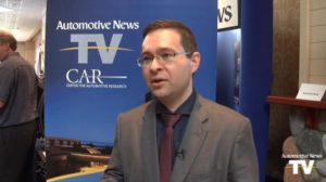 National Auto Dealers Association Chief Economist Steven Szakaly has argued in a new Automotive News video, a screenshot from which is featured, and article that some sort of service and maintenance interval requirement must exist for the seemingly inevitable autonomous car landscape. (Screenshot from Automotive News video posted on www.automotivenews.com and www.brightcove.com)