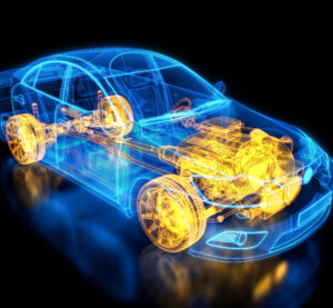 Car wireframe. (Henrik5000/iStock)