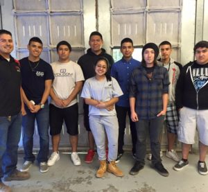Harlingen High School's Auto Collision 2016 team is shown. Members won and placed at SkillsUSA Districts in February. (Provided by Harlingen Public Schools)