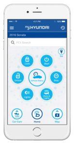 Hyundai's myHyundai Blue Link app is shown. (Provded by Hyundai)