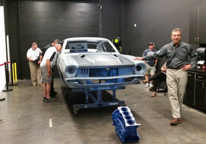 Photos from the SCRS SEMA Garage tour. The engine block has been 3-D-printed. (John Huetter/Repairer Driven News)